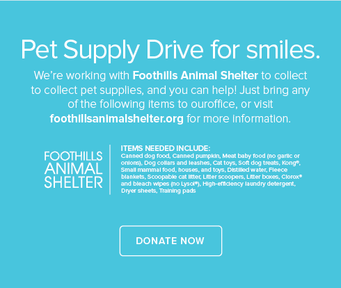 Arvada Modern Dentistry and Orthodontics - Foothills Animal Shelter Pet Drive